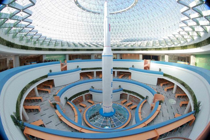 """North Korea's obsession with weird, huge buildings  -  November 25, 2017.   Kim Jong Un has said he hopes the center will help """"advance the establishment of a rich and powerful fatherland through the locomotive of science and technology."""""""