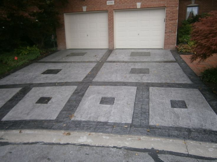 Decorative Drive Way : Best concrete stamped images on pinterest garden