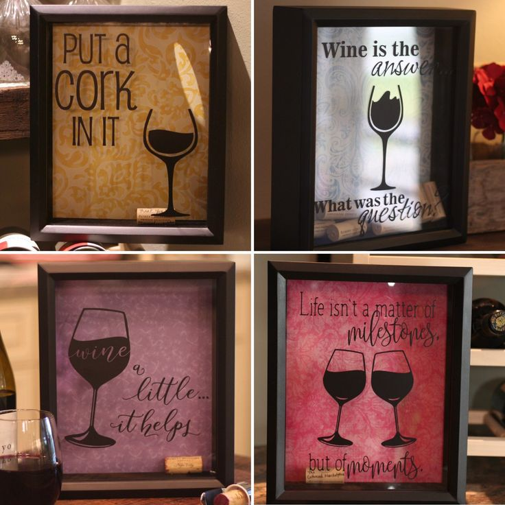 In honor of #nationalwineday...wait isn't every day wine day?   Wine cork holder - shadow box. Put a Cork in it, Wine a Little...It Helps, Wine is the Answer...What was the Question? Customizable and Personalized unique gift ideas