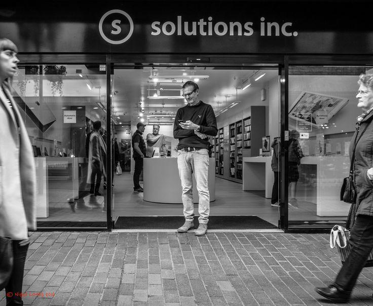 Man seeks a solution - St Albans candids
