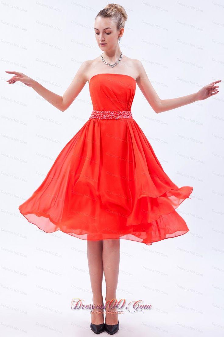 23 best bridesmaids dress images on pinterest fabrics party orange a line tea length chiffon strapless homecomingwedding party beadinglayerssequins zipper cuteterse sleeveless bridesmaid dress ombrellifo Choice Image