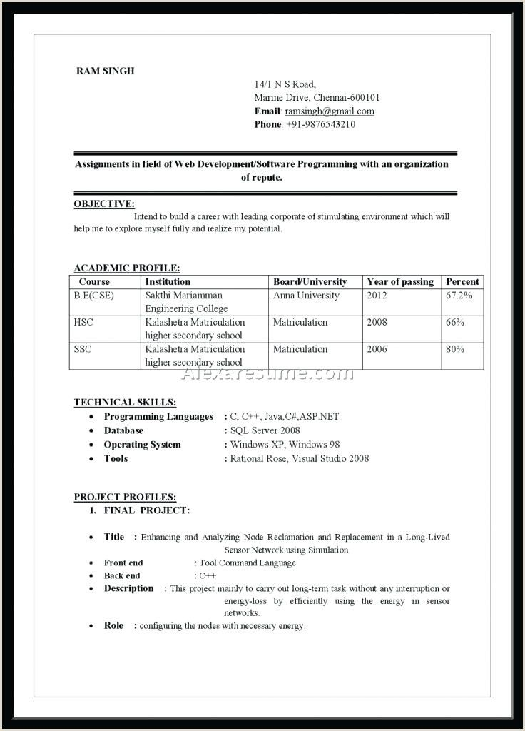 Fresher Resume Format B Com Resume Format Resume Format Download Cover Letter For Resume