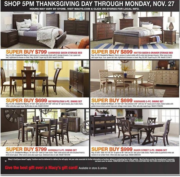 Macys Black Friday 2017 Ads and Deals If you love designer bags and shoes   name brand clothes  quality furniture  kitchen  and home items  but hate  hefty. Best 25  Black friday furniture sale ideas on Pinterest