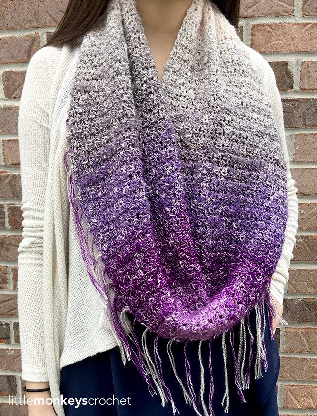 Free Crochet Pattern For Infinity Scarf With Fringe : 1000+ images about Cowl / Shawls / Scarves on Pinterest ...