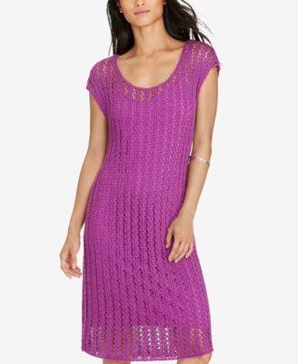Lauren Ralph Lauren Open-Knit Sweater Dress