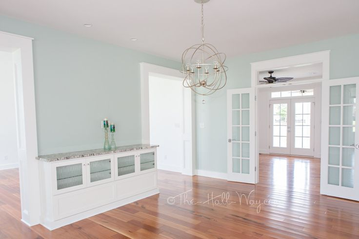 Southern Living Eastover Cottage - Dining Room--sherwin williams---copen blue 0068