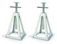 Set De 2 Aluminio Nuevo Estabilizador Jacks Para Rv / Trailer / Trailer / Quinta Rueda