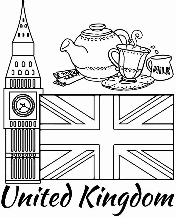 United Kingdom Flag Coloring Page In 2020 Flag Coloring Pages