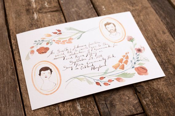 Papyrus Wedding Invitations: Wedding Invitations, Floral