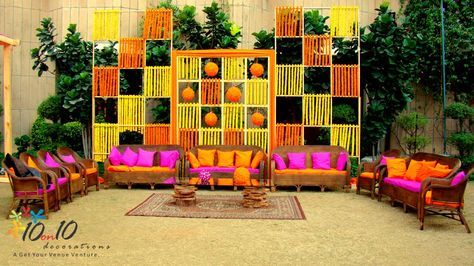 outdoor hindu mehndi night decor - Google Search