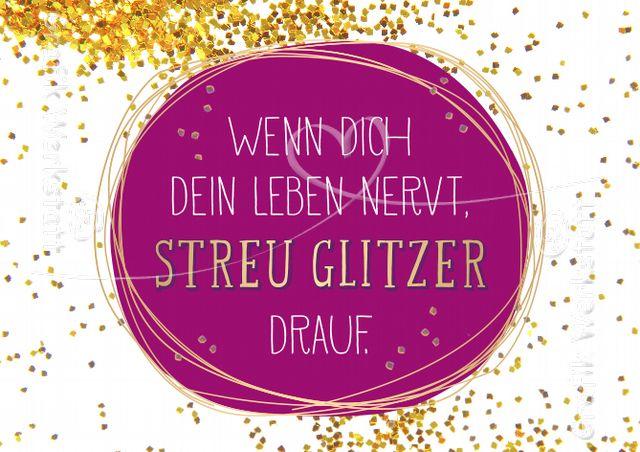 Glitzer - Postkarten - Grafik Werkstatt Bielefeld