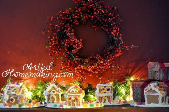 gingerbread house display   Christmas on the Farm   Pinterest