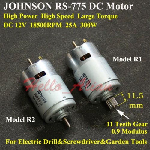 JOHNSON-RS-775-Motor-DC-12V-18500RPM-High-Speed-Power-Electric-Drill-Tools-Motor