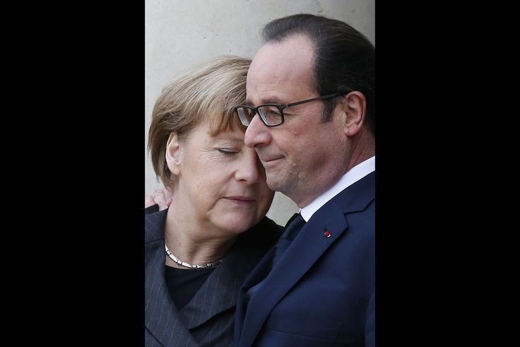 France. Angela Merkel et François Hollande