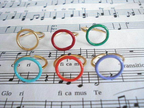 Open circle ring Eternity ring Gold eternity ring by Poppyg
