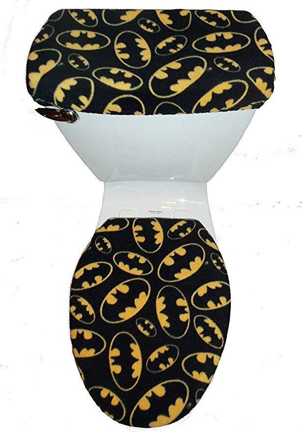 Batman Logo Fleece Fabric Toilet Seat Cover Set Batman Signal