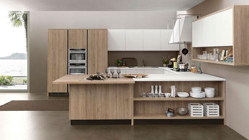 cocina-moderna-con-mueble-marron.jpg (500×281)