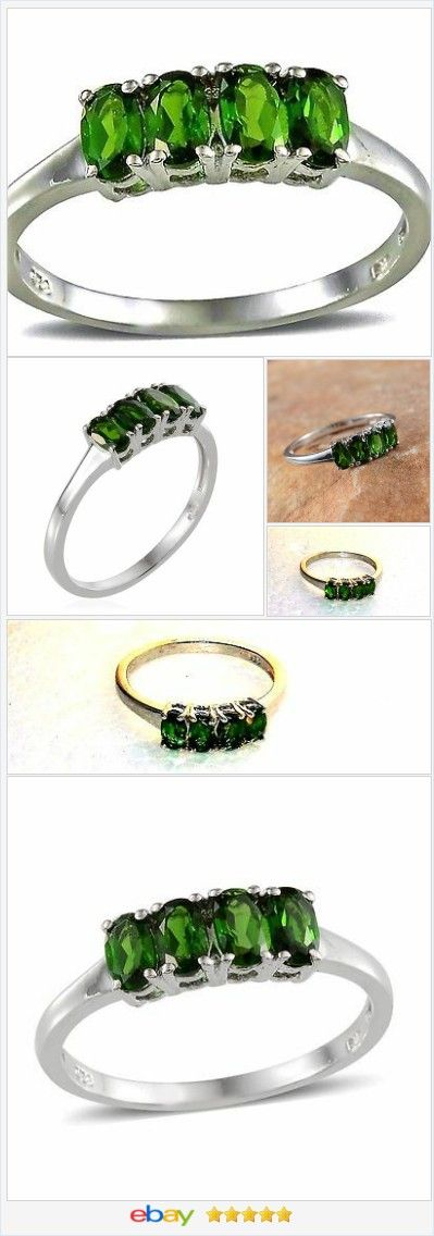 Russian Chrome Diopside ring 1.35 ct size 8 Sterling USA SELLER  | eBay  50% OFF #EBAY http://stores.ebay.com/JEWELRY-AND-GIFTS-BY-ALICE-AND-ANN