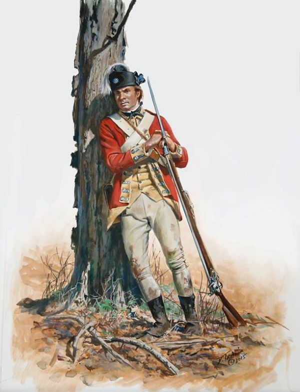 Direct off the easel a British private of the 62nd Regiment of Foot as he would have appeared during the Saratoga campaign of 1777.