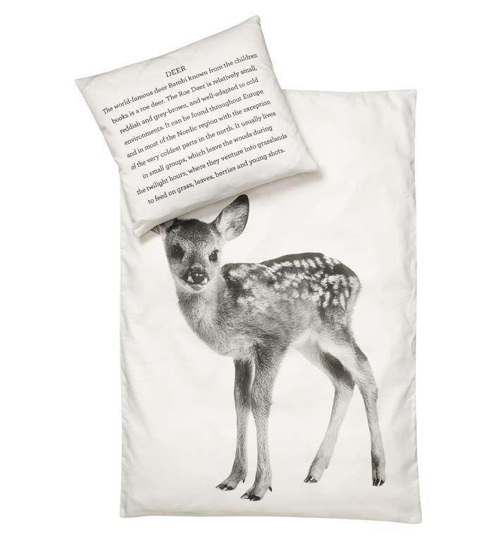 Dětské povlečení Deer 70x100 | Nordic Day