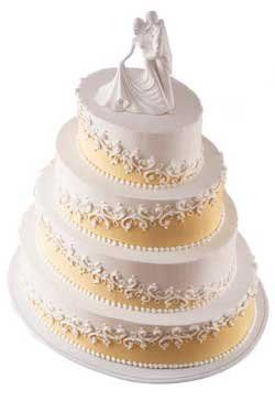 What is your wedding cake design?  Round?  Square, Stacked, tiered?  See pictures of different wedding cakes
