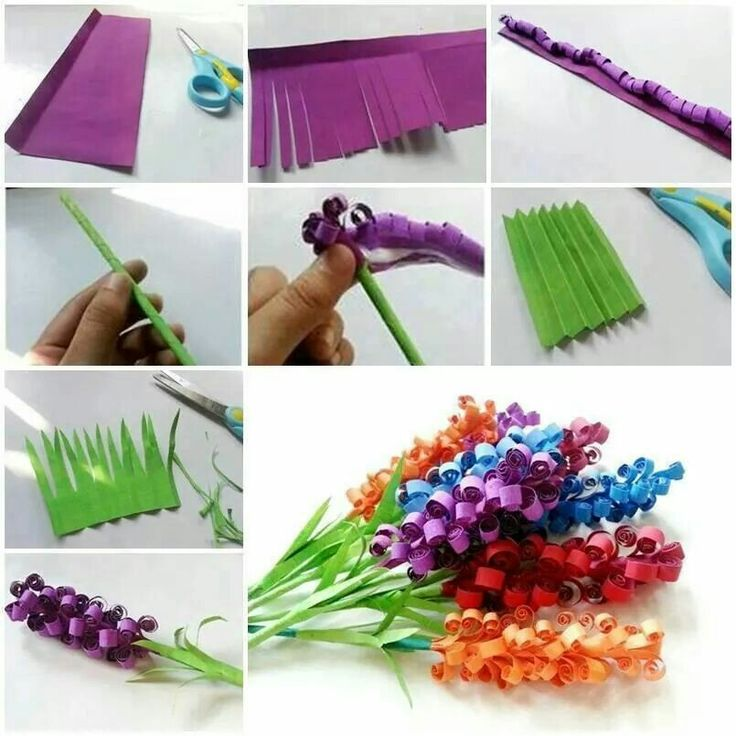 Easy construction paper flowers