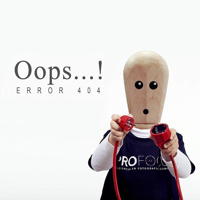 Nos encanta nuestra página de error 404! Esperamos que nunca os aparezca 😁 Mini profocus in action! 📷💪