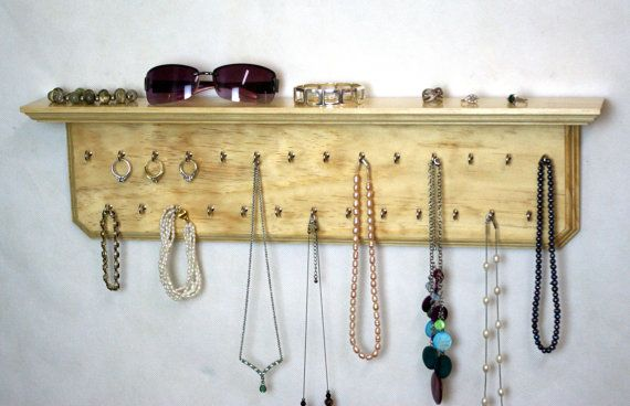 24 Clear Jewelry Display Organizer Wall By