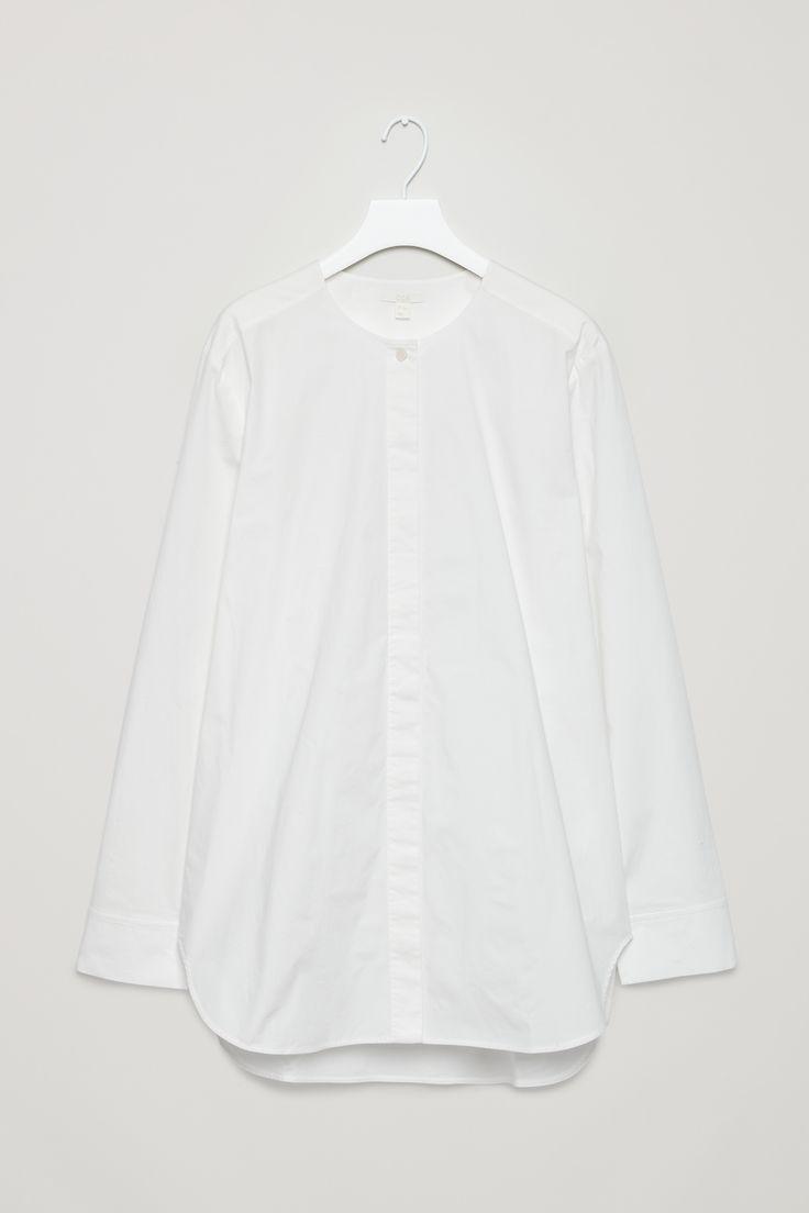 COS | Oversized collarless shirt