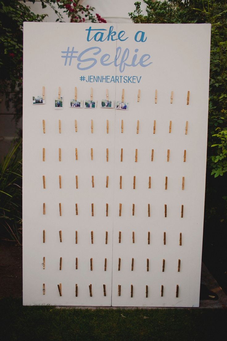 This is the coolest idea- a selfie station in lieu of a guestbook!!