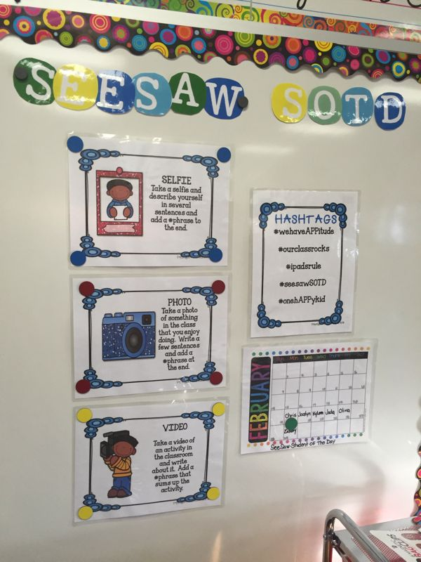 Do you use the #app SeeSaw in your classroom? Let me show you a way to introduce Social Media to your students in a safe and protected environment with the app SeeSaw. One student a day gets to be in...