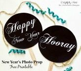 DIY New Year's Photo Prop Free Printables ~ A Great Party Idea!