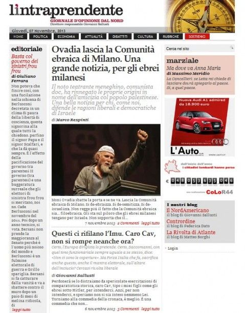 La prima pagina di stamattina www.lintraprendente.it