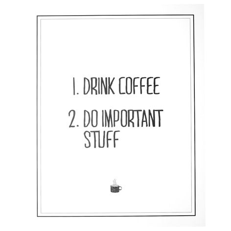 Affisch COFFEE LIST