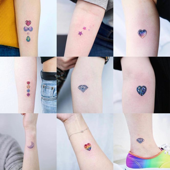 60 Unique Small Watercolor Tattoos For Women Millions Grace Tattoos For Women Small Watercolor Tattoo Small Colorful Tattoos