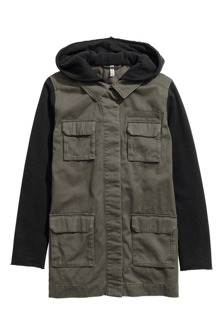 Куртка карго с капюшоном | H&M