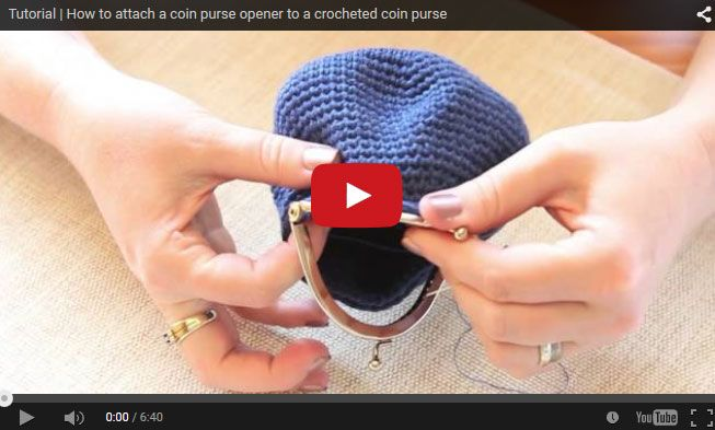 Tutorial   How to attach a coin purse opener to a crocheted coin purse. #Crafts #Tutorial #SouthAfrica
