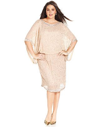 Patra Plus Size Kimono Sleeve Beaded Dress Dresses Sizes