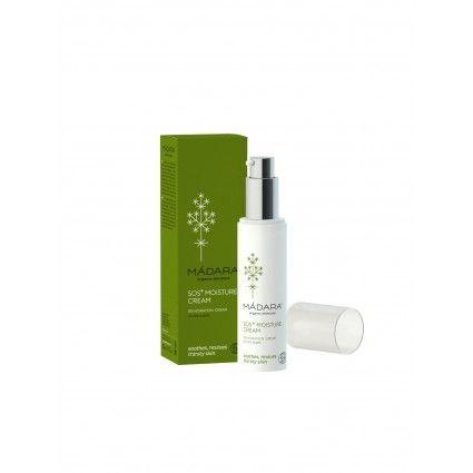Comprar crema hidratante SOS para pieles deshidratadas de Madara que cuida, repara e hidrata la piel de forma saludable.