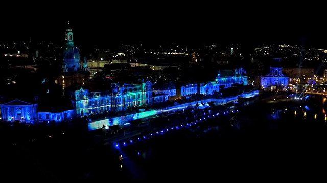 Lasershow in Dresden | Bildrechte: MITTELDEUTSCHER RUNDFUNK