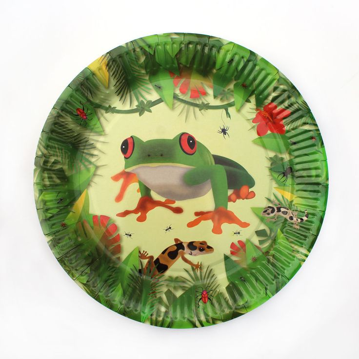 Creepy Crawly / Insect / Reptile Party Paper Plates (Pack 8) #PartyIdeasUK #BirthdayChild