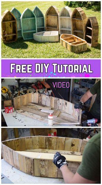 DIY Pallet Wood Boat Bücherregal Tutorial – Video