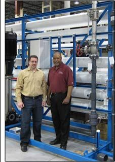 A 350 GPM Reverse Osmosis Machines purchased by the US Army Corps of Engineers for Fort Stewart, GA.