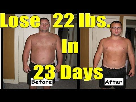 EMERGENCY Diet: Lose 20 Pounds in 3 weeks or... 22 lbs. in 23 days like he did - YouTube
