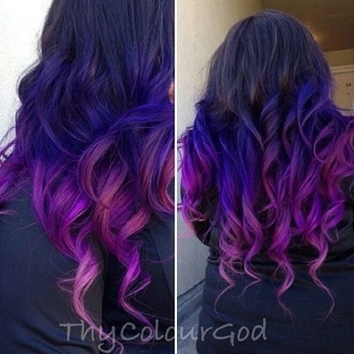 Purple Magenta Ombre Hair Luxurious Locks Colours