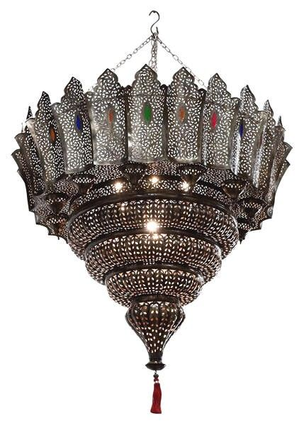 Oversize Pierced Moroccan Brass Chandelier From Morocco Handcrafted In 6 500 00