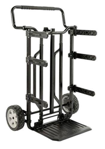 CHARIOT DE TRANSPORT DEWALT : Chariot de transport Dewalt. Chariot métallique à supports pliables propices à diverses configurations. Idéal pour transporter les coffres Dewalt #DWST08204, DWST08203 et DWST08201 (non inclus). D spositif de verrouillage central permettant de fixer solidement les modules au chariot. Etui ToughSystemMC (non inclus).
