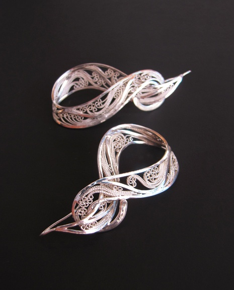 Victoria Lansford--Encircled Russian Filigree earrings