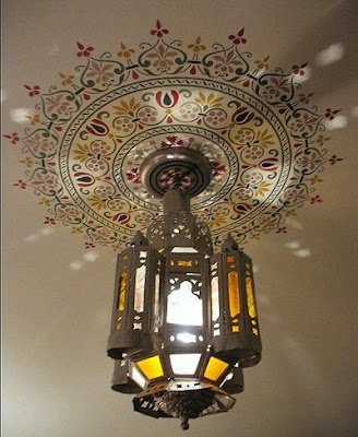 DIY Stencil Or Painted Ceiling Medallion