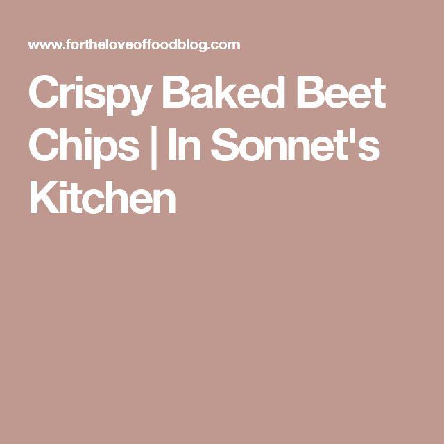 Crispy Baked Beet Chips   In Sonnet's Kitchen
